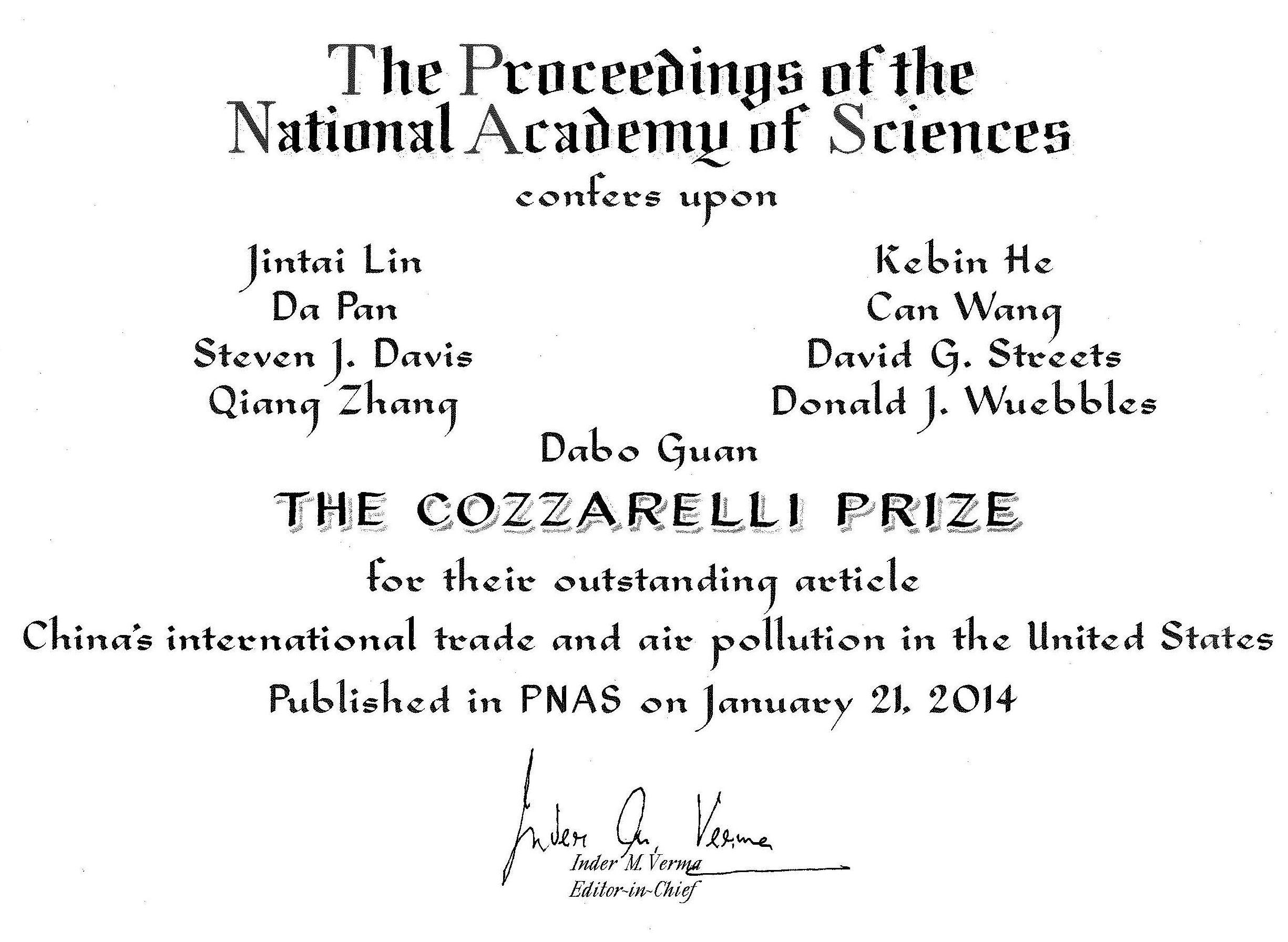 附件1 PNAS prize